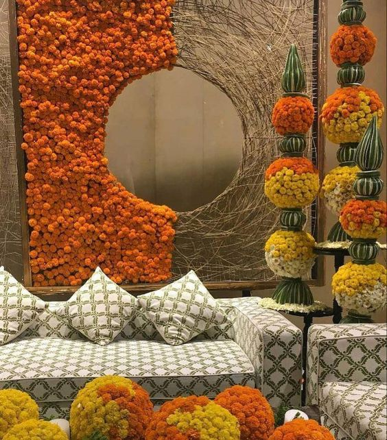 Latest Marigold Flower Decoration Ideas For Weddings