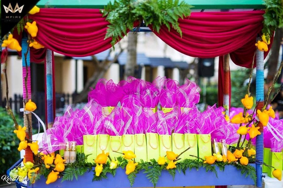 display wedding giveaways, signages for your wedding giveaway, gift stalls, Wedding gifts display