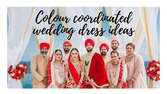 Colour coordinated wedding dress ideas