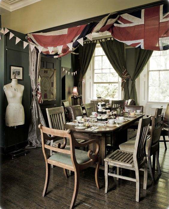 Hosting a High Tea Party in dining room