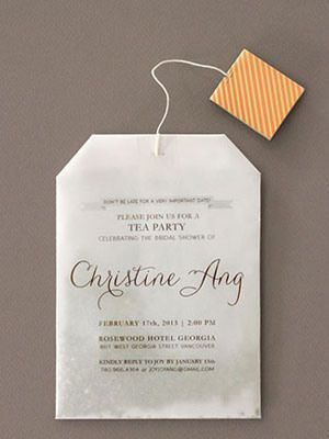 Sending out Invites for a High Tea Party on a Tea Bag