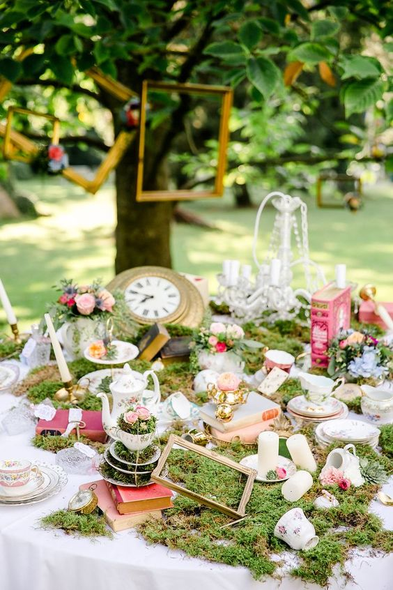 Alice in Wonderland theme for High Tea Party