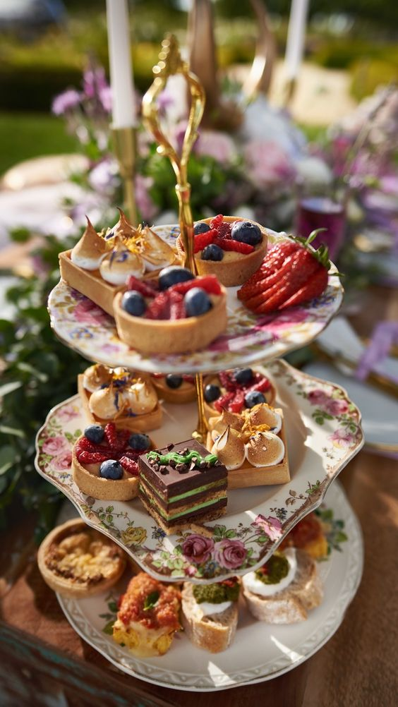 Scorns and pastries for High Tea Party