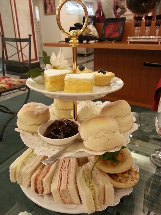 Sandwiches, bagels and baguettes for High Tea Party