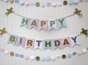 DIY 'Happy Birthday' Garland