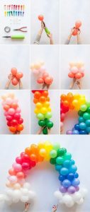 DIY Rainbow Balloon Arch