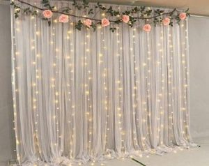 Fairy lights with DIY Flowers