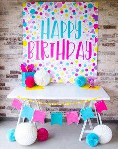 DIY 'Happy Birthday' Cardboard Banner