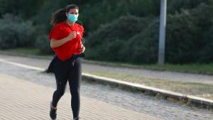 Sports activity wearing masks