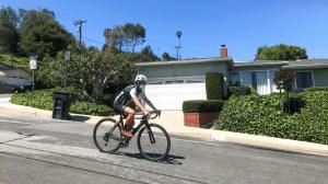 Cycling wearing masks