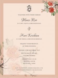 Send out E-invites for safe wedding