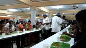 Support staff serving food to guest instead of keeping a buffet