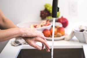 Wash hands-covid free vegetables