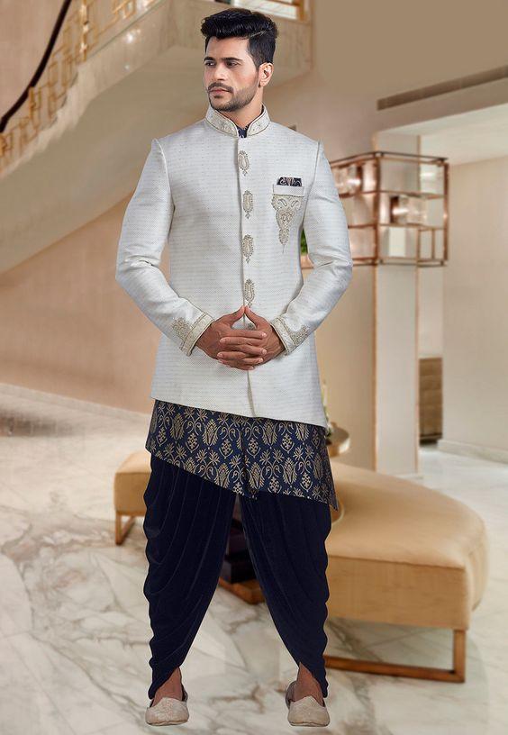 Asymmetrical sherwani