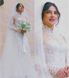 Priyanka Chopra's Christian Wedding Look