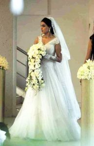 Genelia D'Souza and Riteish Deshmukh Wedding Look