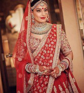 Bipasha Basu and Karan Singh Grover Wedding Look