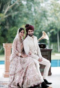 Mira Rajput and Shahid Kapoor Wedding Look