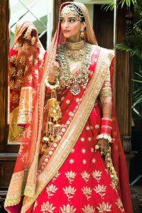 Sonam Kapoor and Anand Ahuja Wedding Look