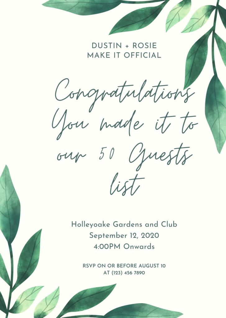 covid wedding invites