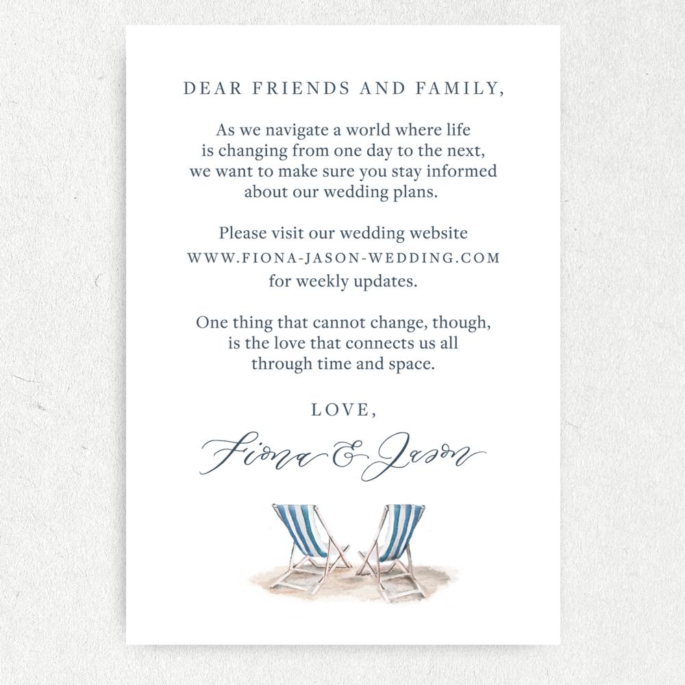 Covid wedding card updates