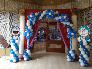 Balloon Arch for Doraemon Theme Birthday Party: