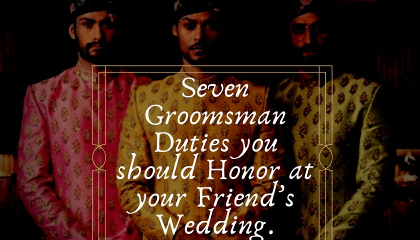Groomsman duties title