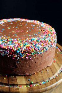 Eggless Birthday Cake Recipes for Dark Chocolate Cake
