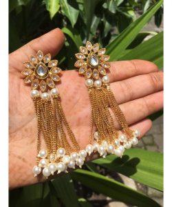 drop Bridal Earrings with pearls