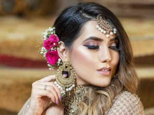 Chandbali Bridal Earrings pearls