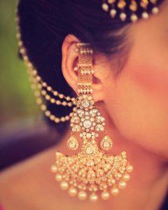 Bahubali Bridal Earrings stones