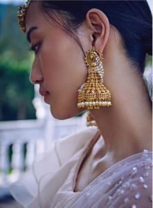 Jhumka Bridal Earrings pearls