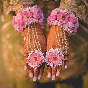 Haldi Flower Jewellery Designs- Haath Phool