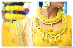 Haldi Flower Jewellery Designs- Necklace