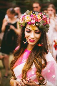 Haldi Flower Jewellery Designs- Flower Crown: