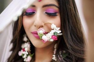 Haldi Flower Jewellery Designs- Nose Ring