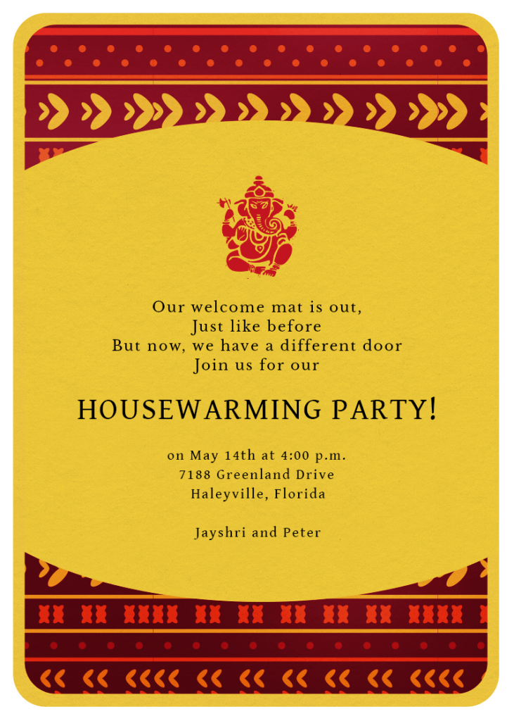 House Warming Party Tips for Invitation