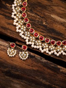 Zaveri Pearls Kundan Bridal Necklace Designs