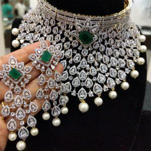 Diamond and Emerald Bridal Necklace Designs