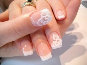 French Manicure Bridal Nail Art Designs
