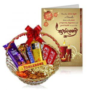 Chocolate/Mithai Hamper for Diwali Gift Ideas