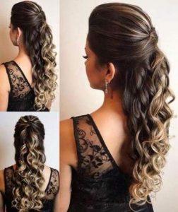Bridesmaid hairstyles_Medium hair half up
