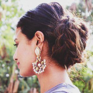 Bridesmaid hairstyles_long hair bun