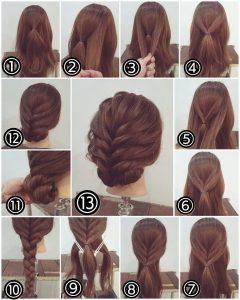 Bridesmaid hairstyles_Medium hair Bun