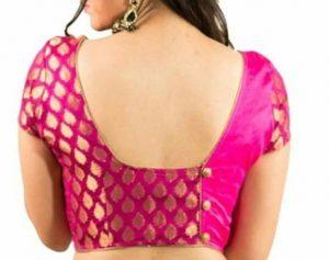 simple bridal blouse designs _short sleeves pattern