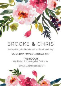 floral wedding card image