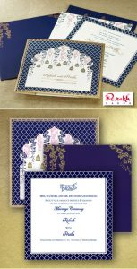blue and white wedding card image