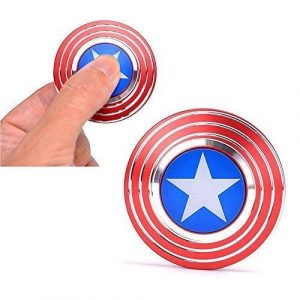 captain America fidget spinner in blue, red and silver colour