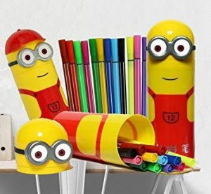 minion box with sketch pen set