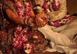 couple getting married traditionally